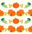 Seamless texture celebratory food turkey vector image