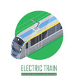 tramway icon in isometric projection vector image