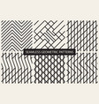 striped seamless geometric patterns vector image