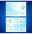 brochure folder leaflet air conditioner vector image