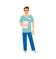 laboratory assistant medical specialist vector image