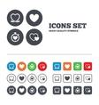 Heart ribbon icon Timer stopwatch symbol vector image