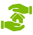Realty insurance icon from Business Bicolor Set vector image