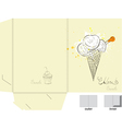 ice cream folder template vector image vector image