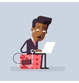 Deadline Man is trying to finish the job on time vector image
