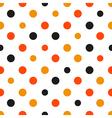 Orange Polka dot White Background vector image