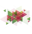 Abstract tech background with triangles vector image