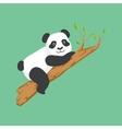 Cute Panda Character Climbing A Tree vector image