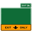 Exit Only Sign vector image