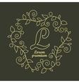 Linear Luxury logo vector image