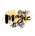 Make magic things vector image
