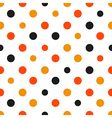 Orange Polka dot White Background vector image