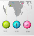 round pictogram location background vector image