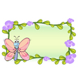 A butterfly and flowers vector image vector image