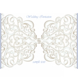 Wedding Invitation card with lace ornament vector image