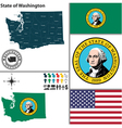 Map of Washington with seal vector image