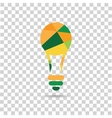 Color bulb on the checkered background vector image