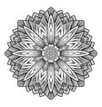 Graphic fish circle ornament vector image