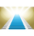 staircase with blue carpet Stairs with a blue vector image