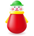roly poly doll toy vector image vector image