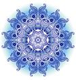 arabeska blue mono vector image