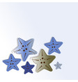 blue starfish isolated on gradient background vector image