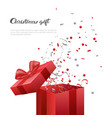 christmas gift box new year present template vector image