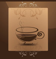 coffee mug in the frame vector image