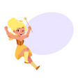 fairy girl fantasy isolated vector image