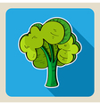Hand drawn green tree vector image