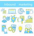 inbound marketing vector image