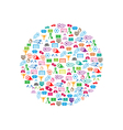 soccer background icon circle color eps10 vector image