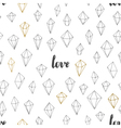 Seamless valentines pattern vector image