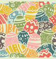 seamless easter eggs pattern pastel colors vector image vector image