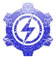 electric cogwheel textured icon vector image