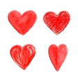 Set of colorful hearts vector image