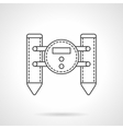 Floating robot flat line icon vector image