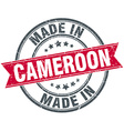 made in Cameroon red round vintage stamp vector image