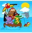 animals pirates vector image