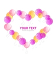 heart ballons and text vector image