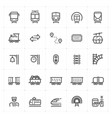 icon set - train and transport vector image