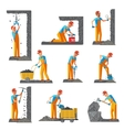 Miner People Flat Collection vector image