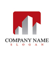real estate commercial logo vector image