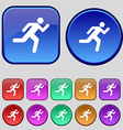running man icon sign A set of twelve vintage vector image