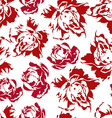 Seamless floral pattern of red roses vector image