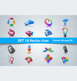 set infographic 3d icon vector image