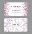 Square mosaic business card template design vector image