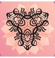 Stylized kaleidoscope medallion yoga india vector image