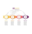 Infographic with 4 steps parts arrows vector image vector image