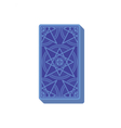 Tarot cards reverse side Deck Stack of cards vector image